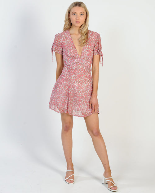 Cruel To Be Kind Dress - Coral Floral