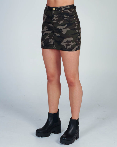 Girl In Charge Skirt - Camo
