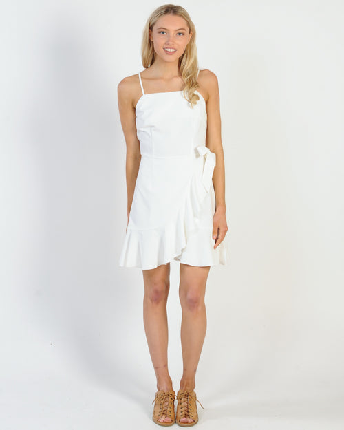 Missing Out Mini Dress - White
