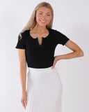 LOST CONTROL CORD SKIRT - BLACK