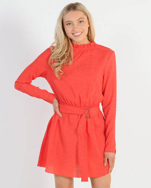 The Fifth Label Pitch L/S Dress - Red
