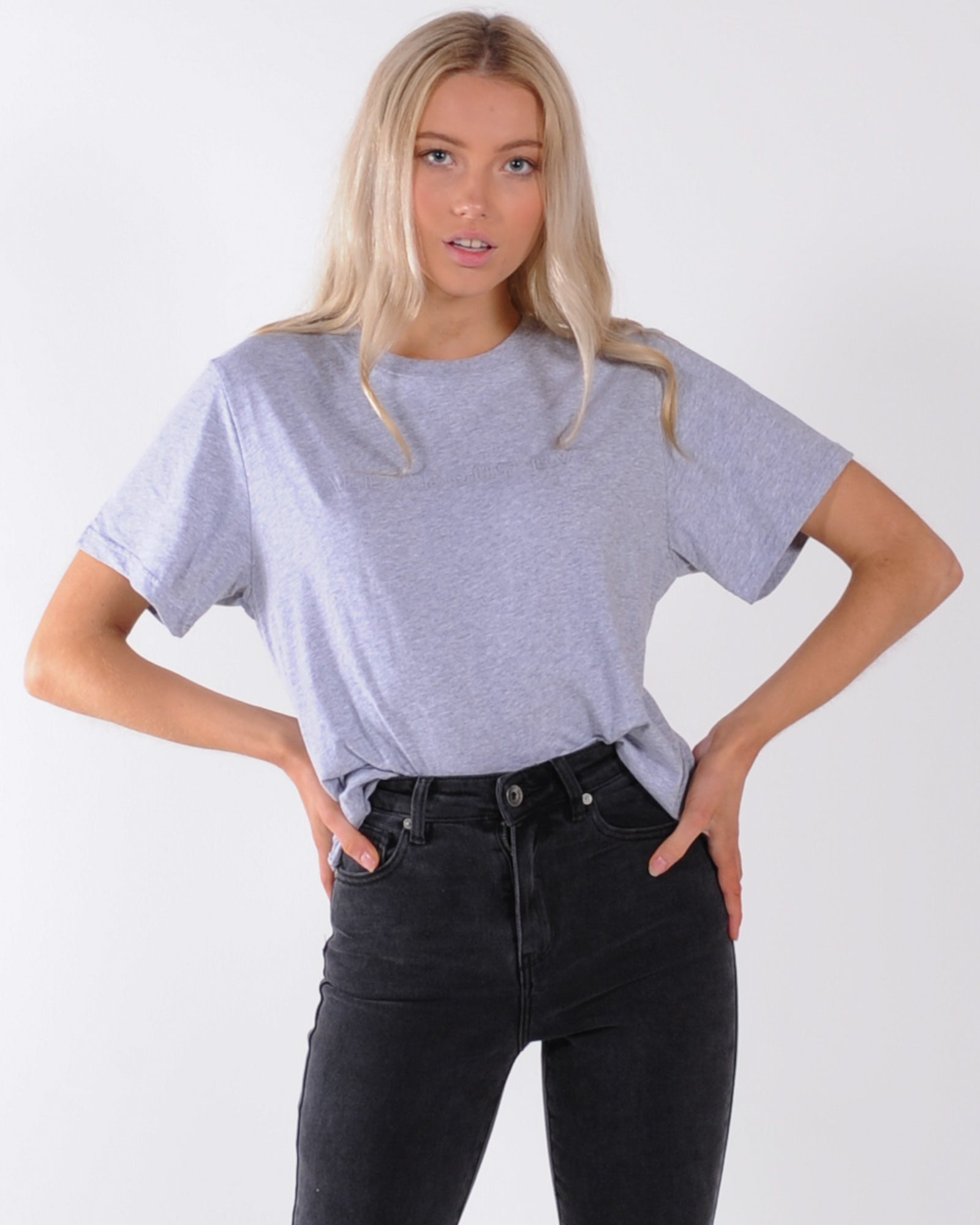 All About Eve Gwen Longline Tee - Grey Marle