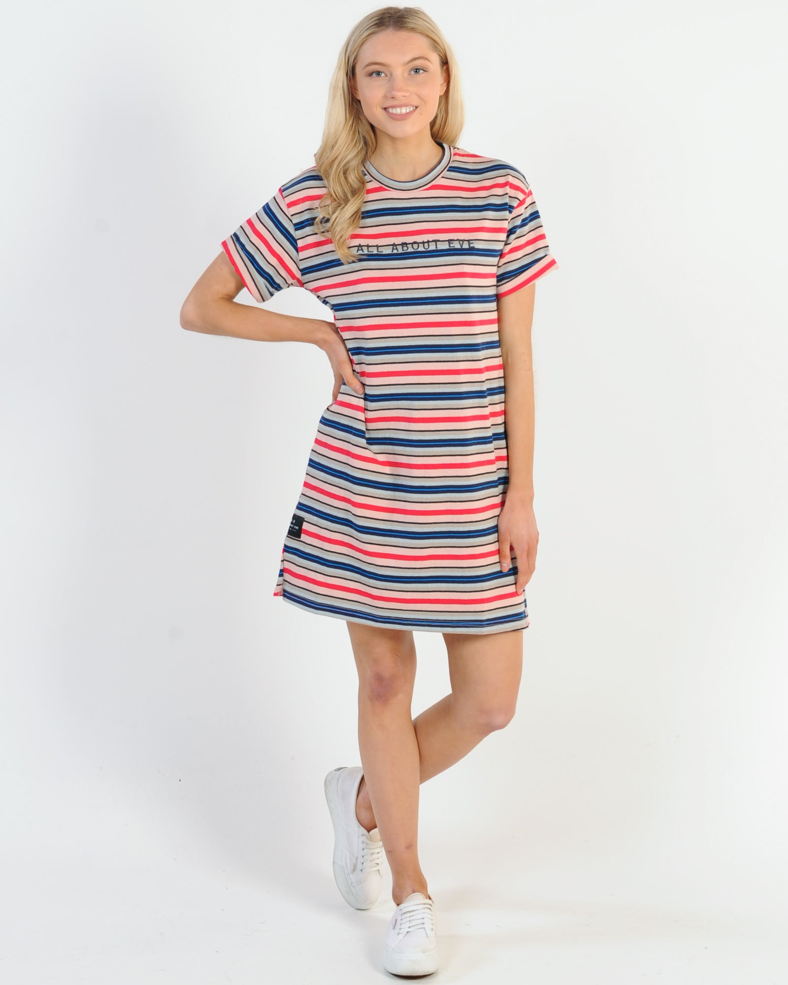 All About Eve Stripes For Days Tee Dress - Yarn Dyed Stripe