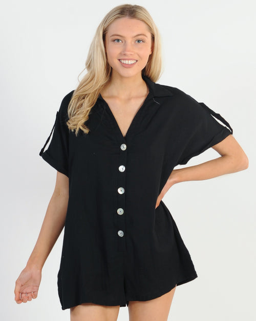 Holiday Mode Playsuit - Black