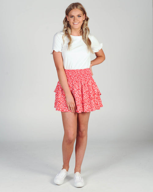 Kahlan Skirt - Red Floral