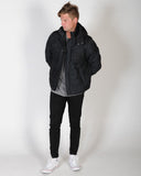 INDUSTRIE DENIM APEX JACKET - CHAR / BLACK