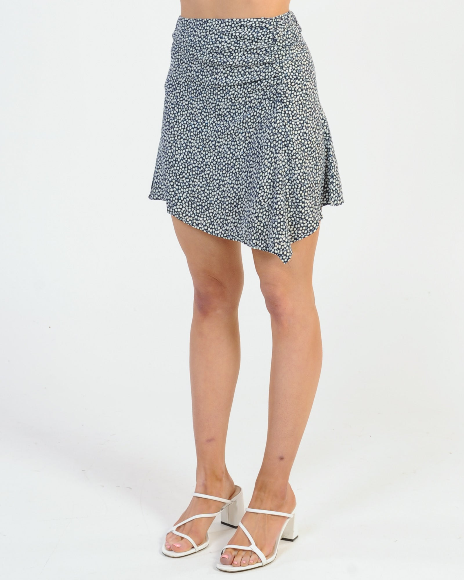 Fell For You Skirt - Navy Floral