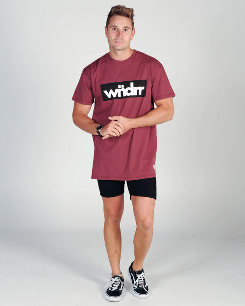 Wndrr Accent Custom Fit Tee - Burgundy