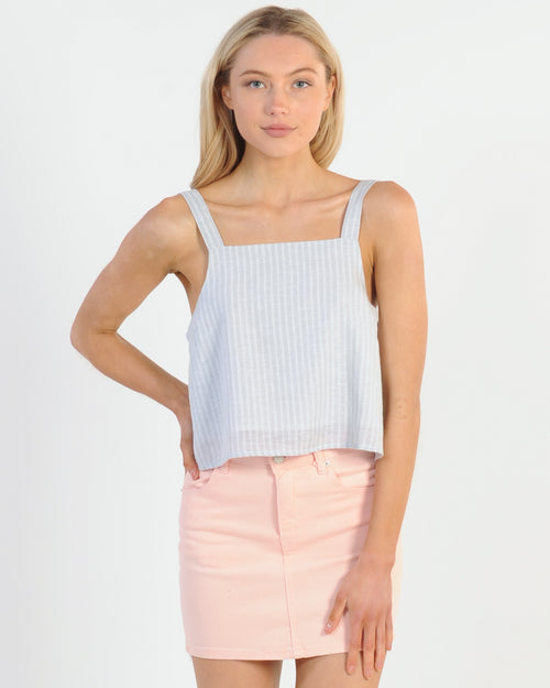 Nude Lucy Blake Linen Cami - Sky Stripe