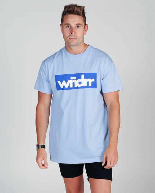 Wndrr Accent Custom Fit Tee - Cyan