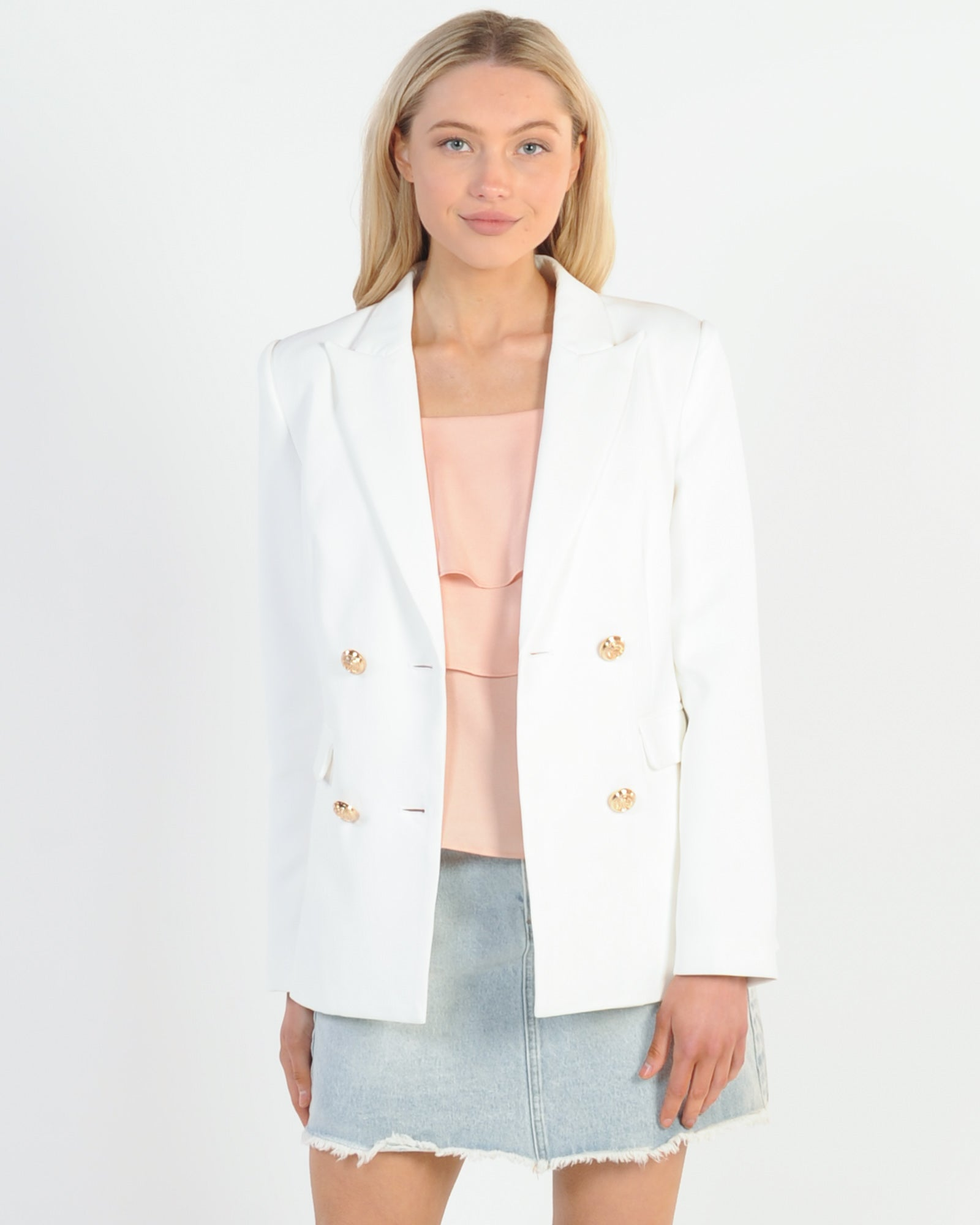 Madison The Label Kendra Blazer - White