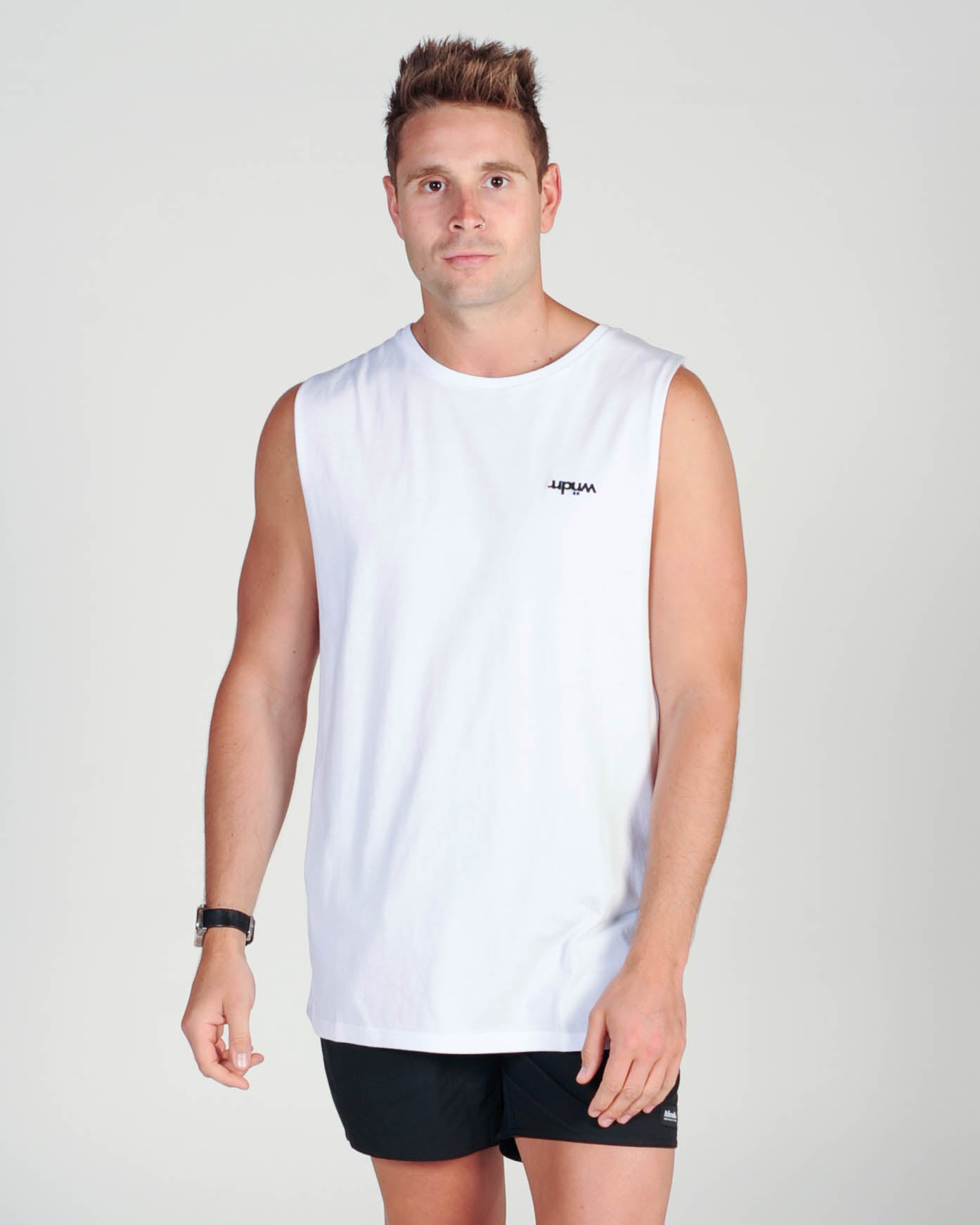 Wndrr Divide Muscle Top - White