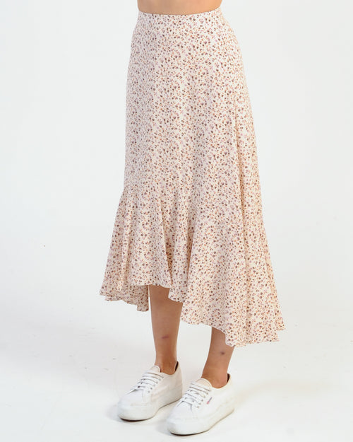 Forget Me Not Midi Skirt - Purple Floral