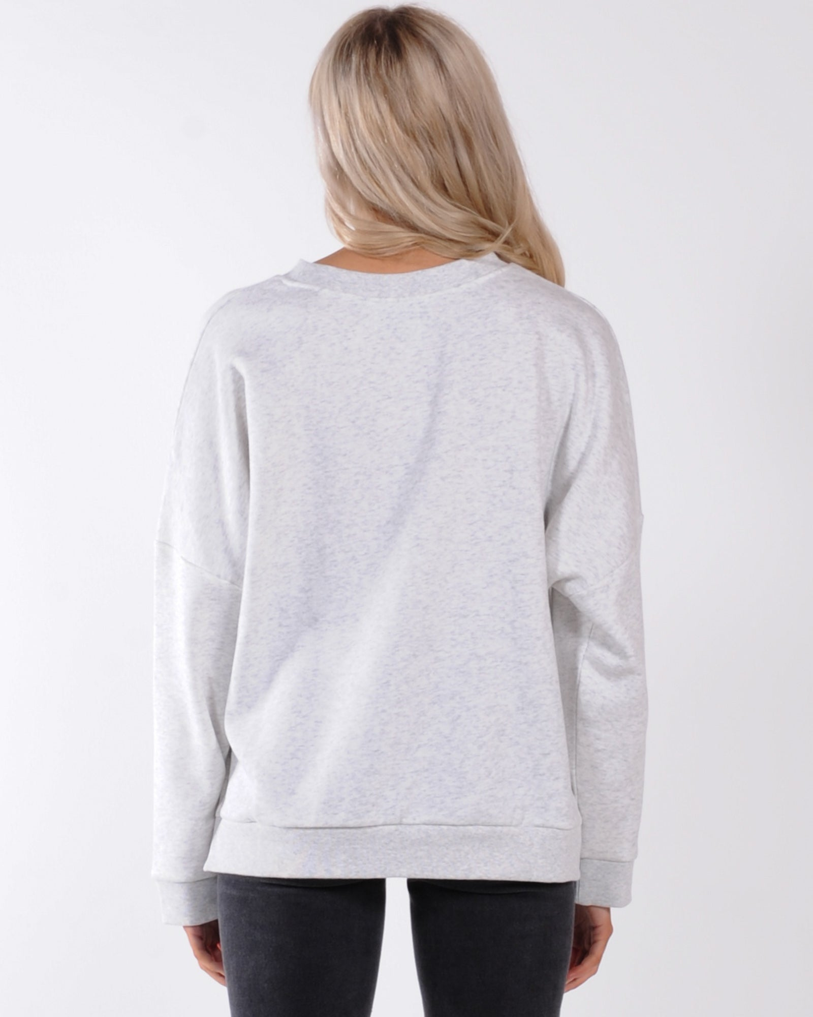 Nude Lucy Carter Classic Oversized Sweat - Snow Marle
