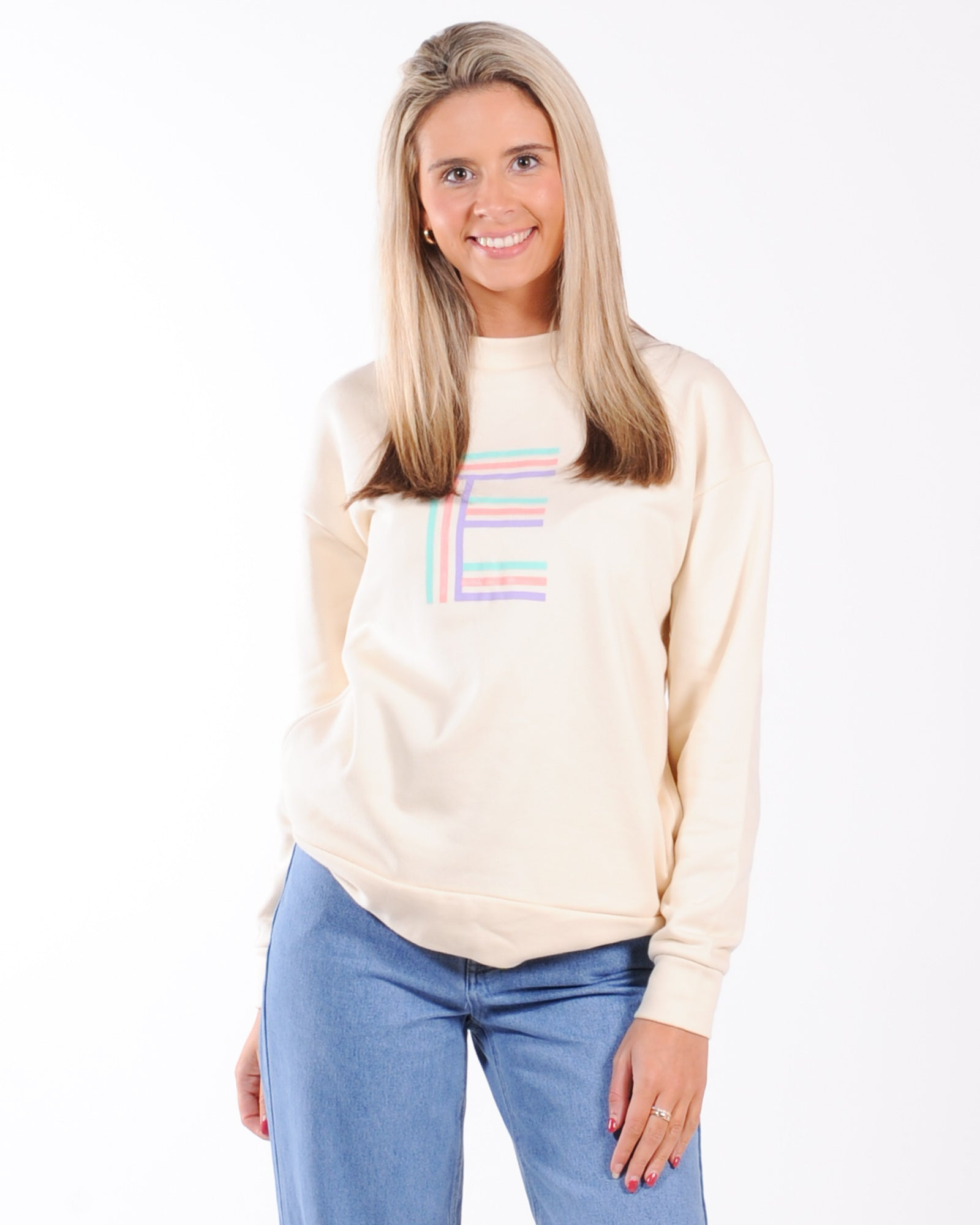 Elwood Katie Crew Sweat - Chalk