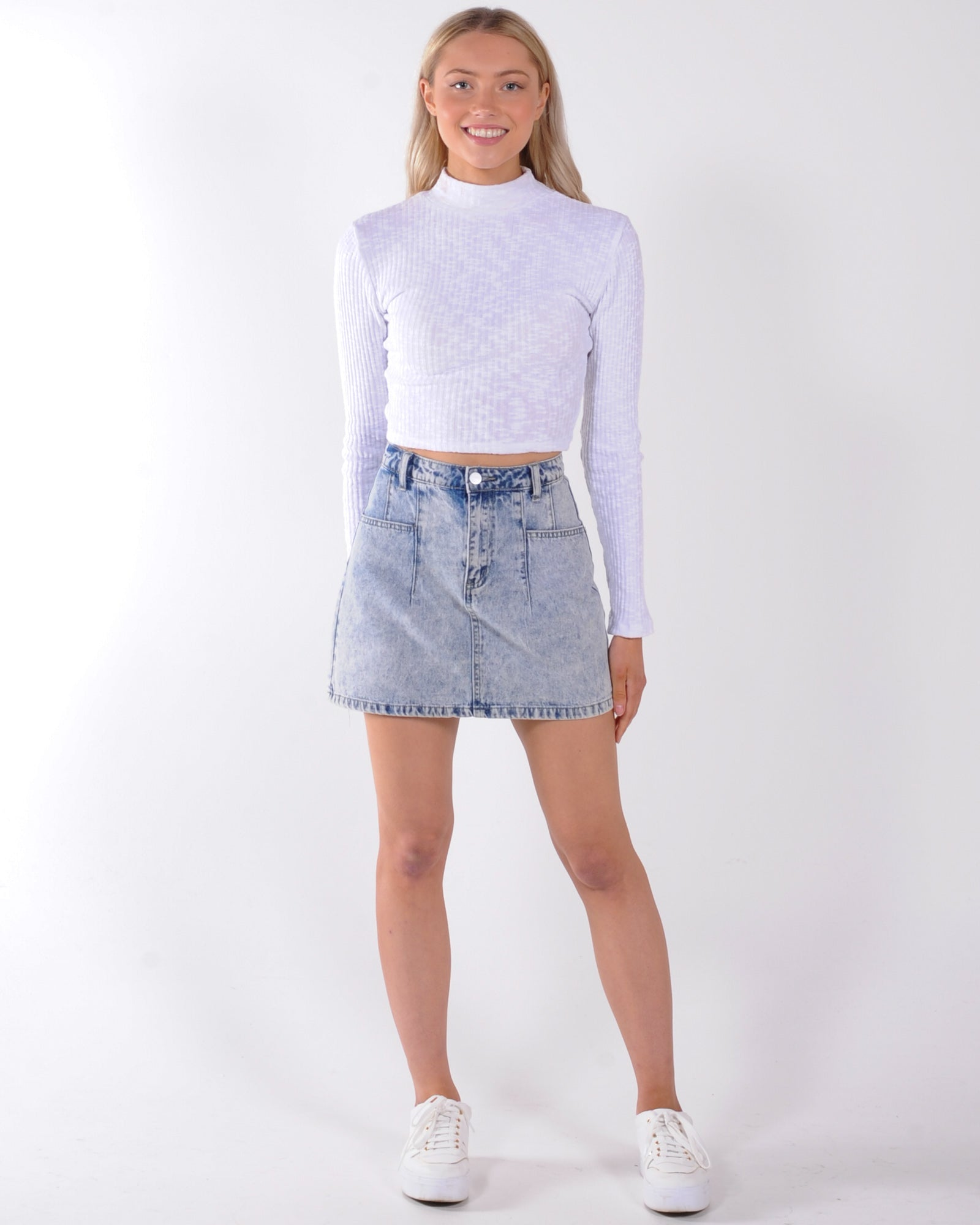 All About Eve Drew Long Sleeve Top - White