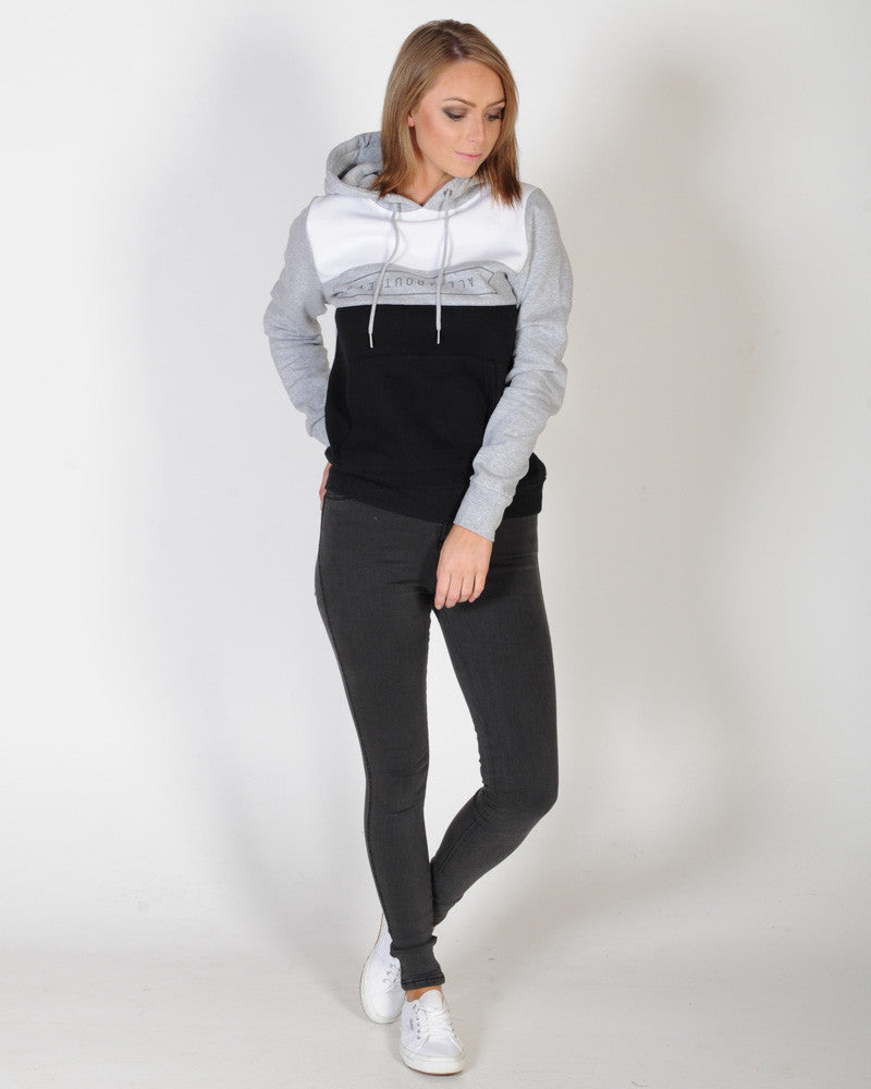 ALL ABOUT EVE BOLT HOOD SWEAT - WHITE