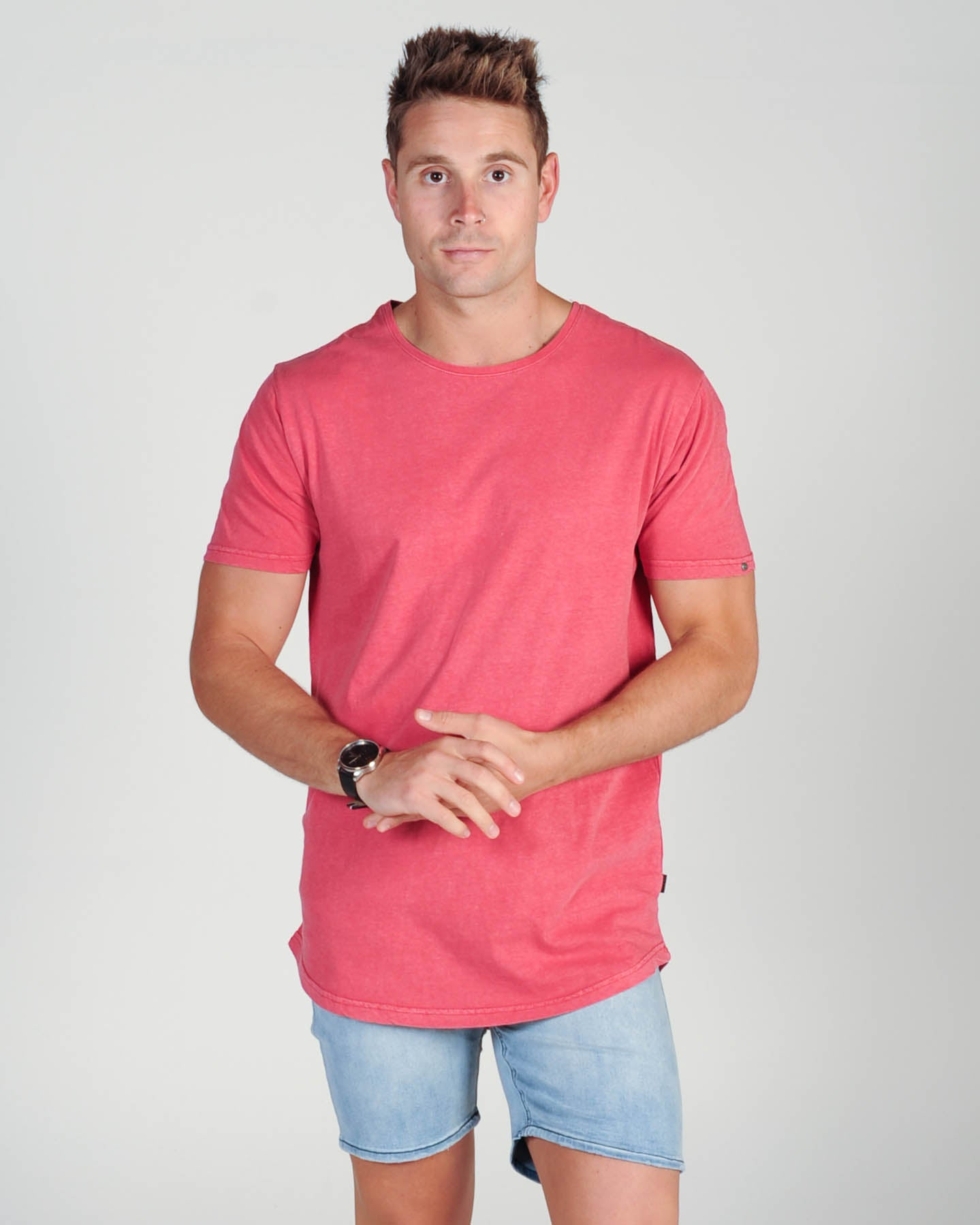 Silent Theory Tail Tee - Chrimson Red