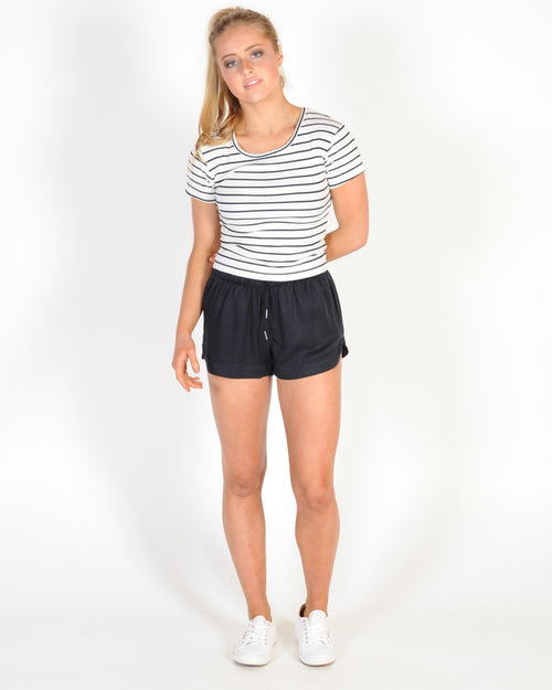 ALL ABOUT EVE IVORY SHORT - NAVY
