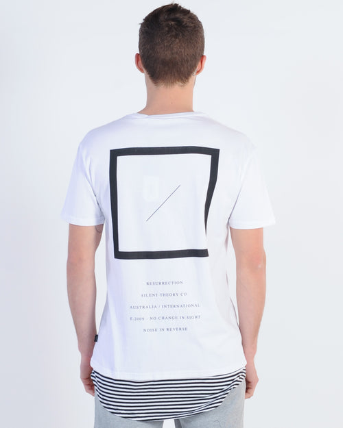 Silent Theory Warlord Layered Tee - White