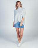 MISS MAY L/S DRESS - BLUE