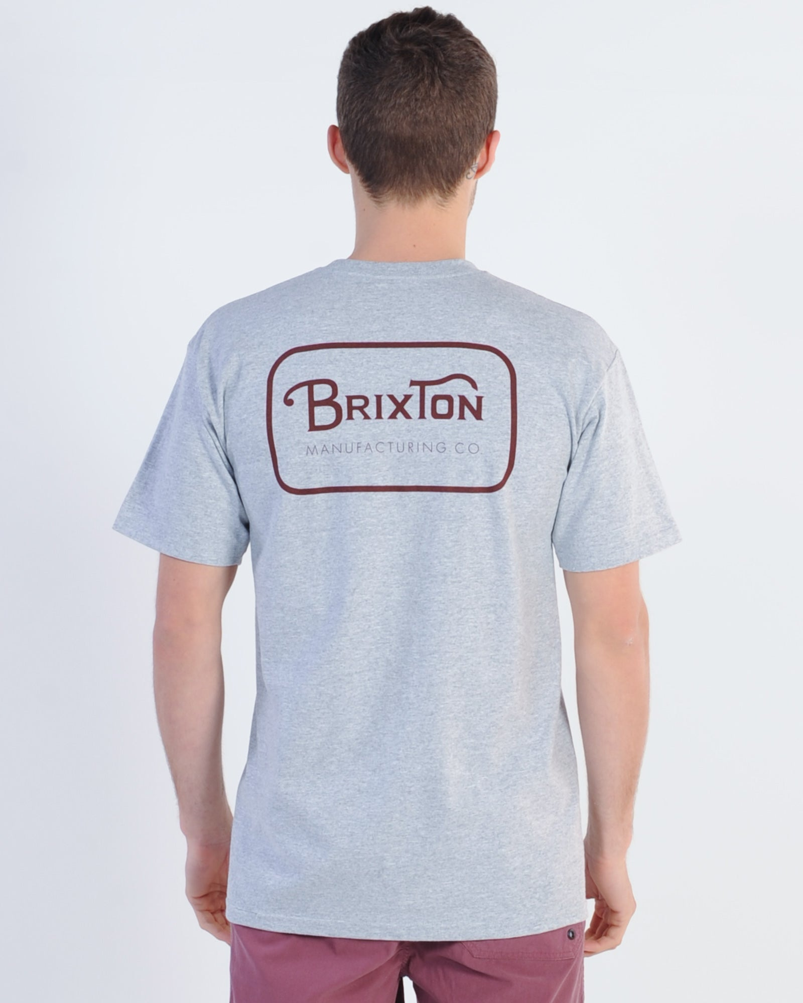 Brixton Grade Tee - Heather Grey