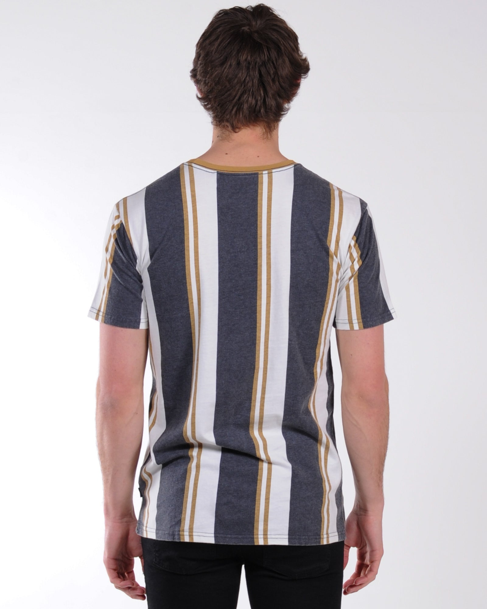 Silent Theory Parts Vert Stripe Tee - Coal