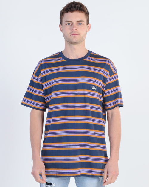 Stussy Martin Stripe Tee - Blue Nights