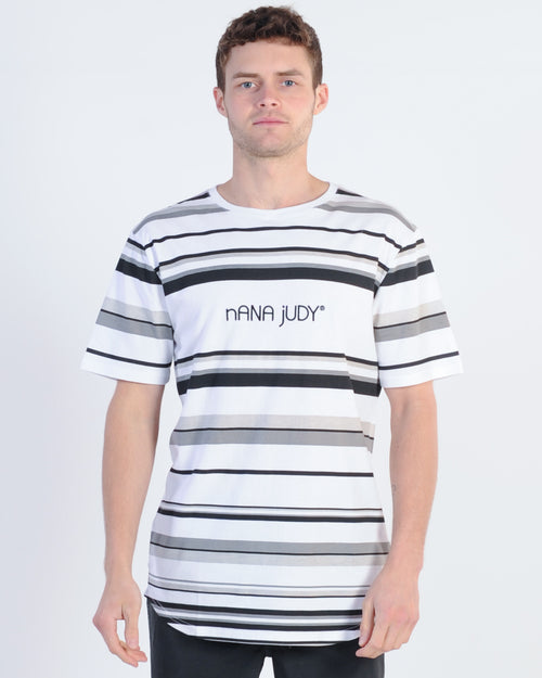 Nana Judy Normandy Stripe Tee - White/Black