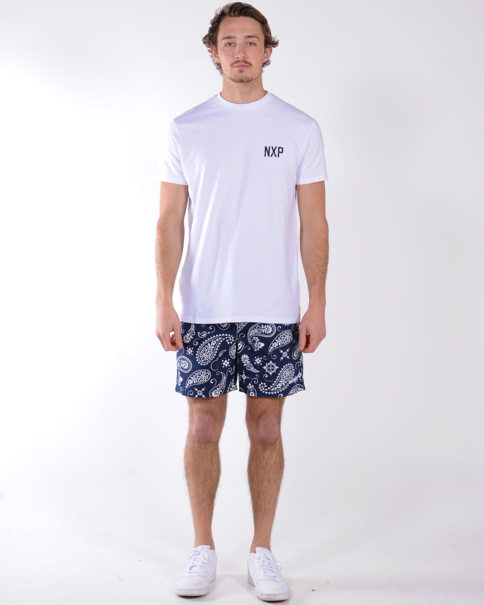 Nena & Pasadena Decay Relaxed Fit Tee - White