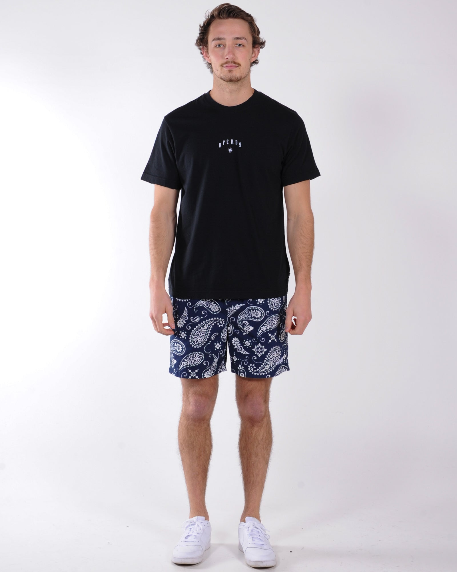 Afends Fiction Retro Fit Tee - Black
