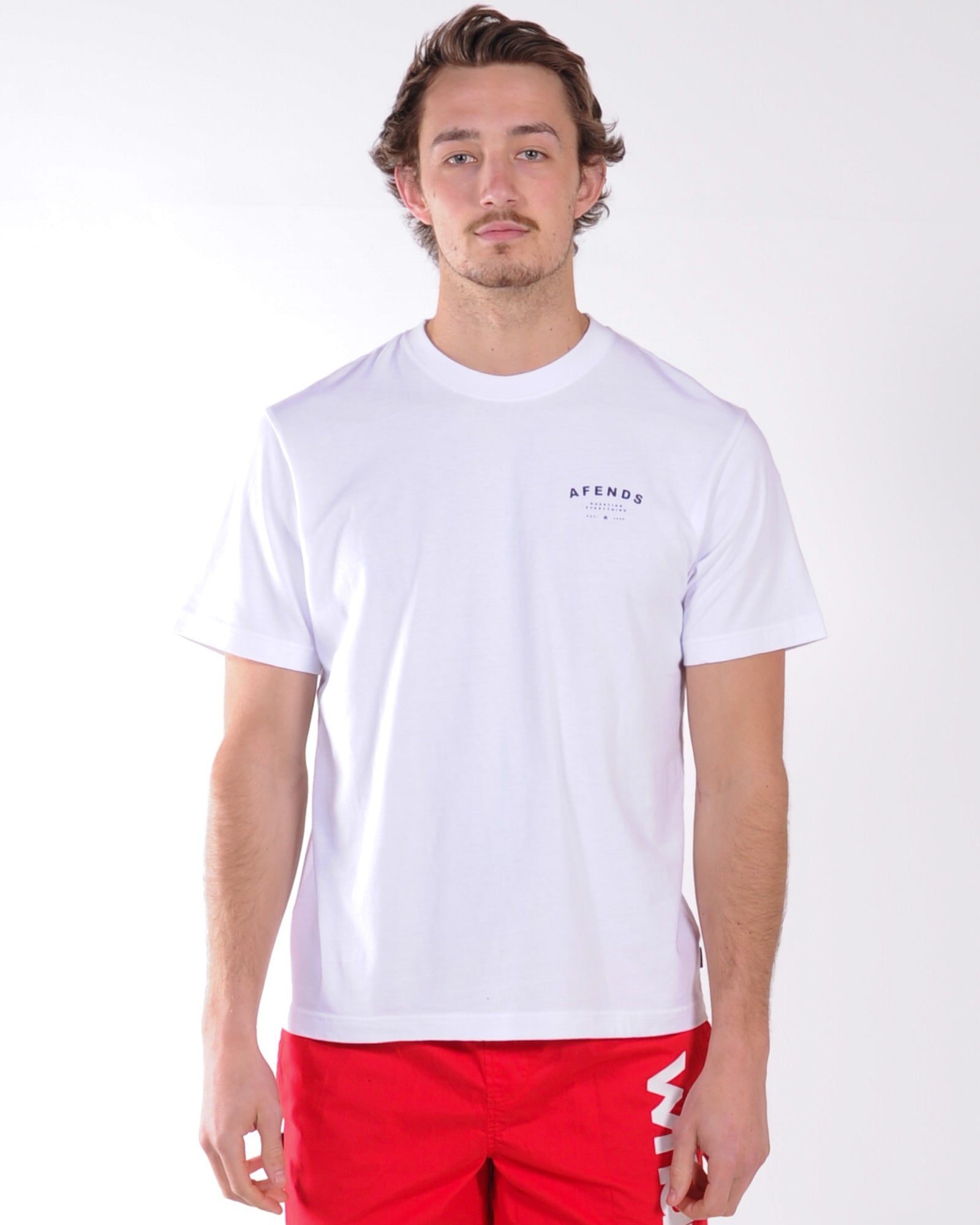 Afends Still Here Retro Fit Tee - White