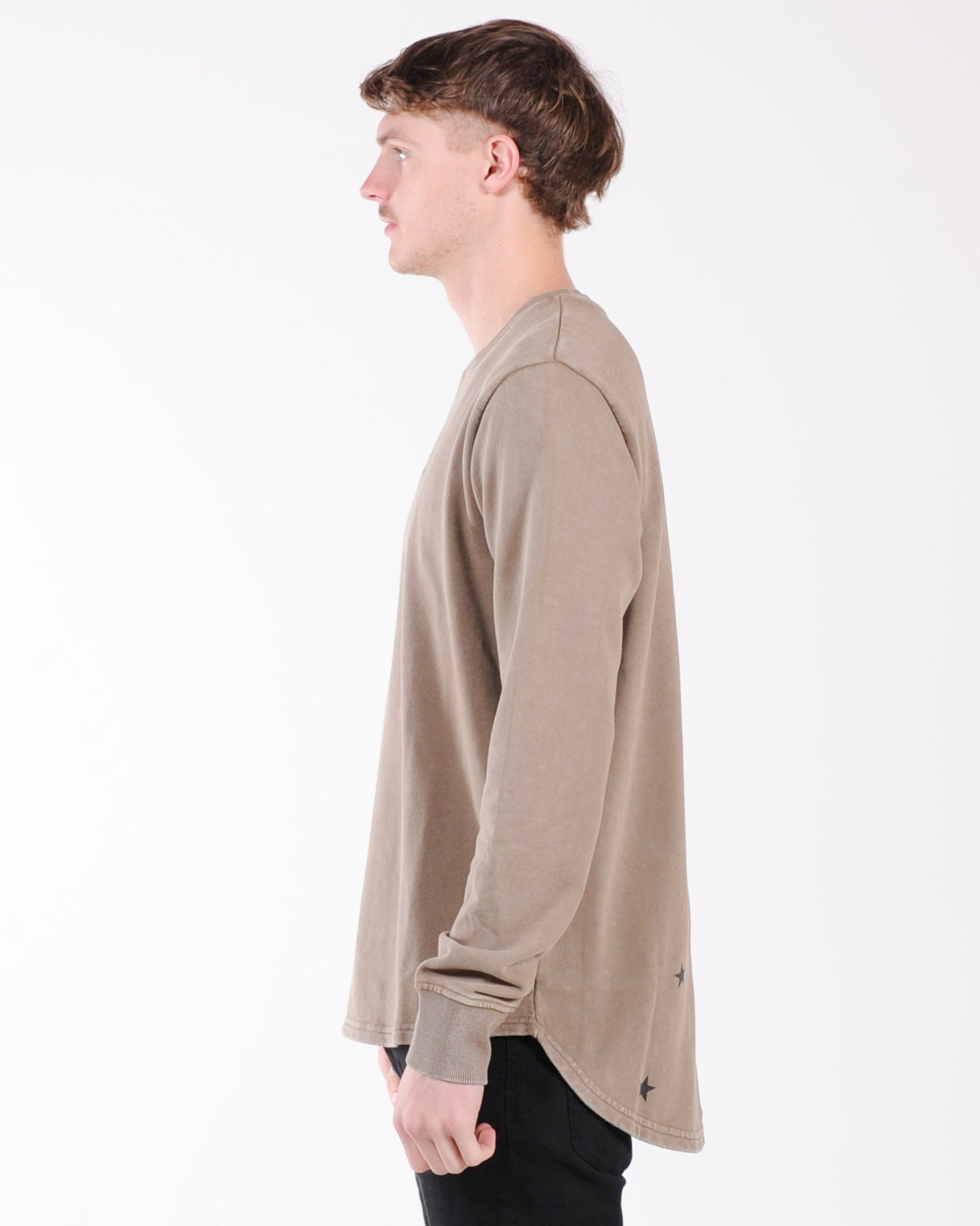 Silent Theory Outlaw Crew Sweat - Brown