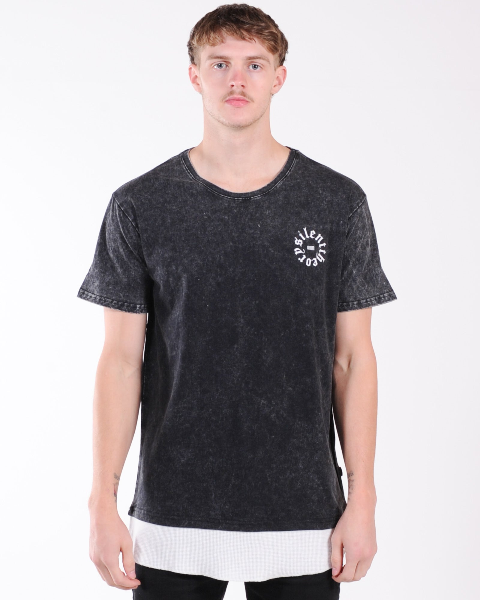 Silent Theory Grief Tee - Washed Black