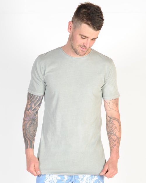INDUSTRIE COTTON BASIC TEE - MOSS