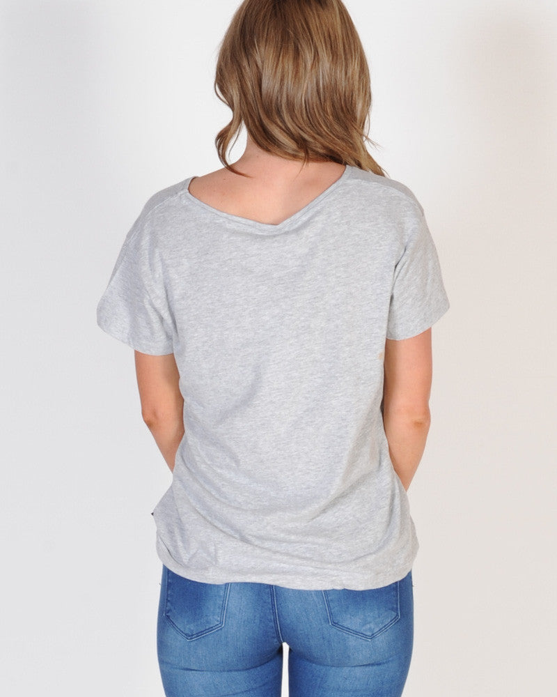 Silent Theory Polly Tee - Grey Marle