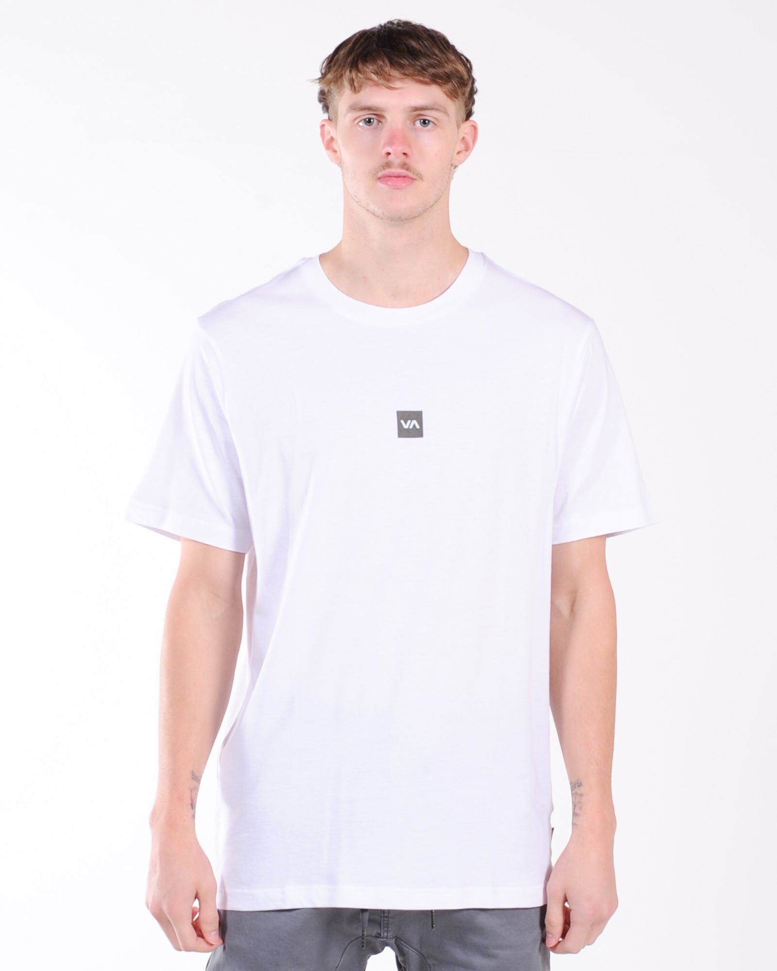 Rvca Down The Spine Ss Tee - White