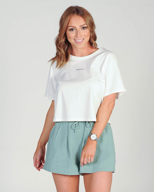 Tell Me More Shorts - Mint
