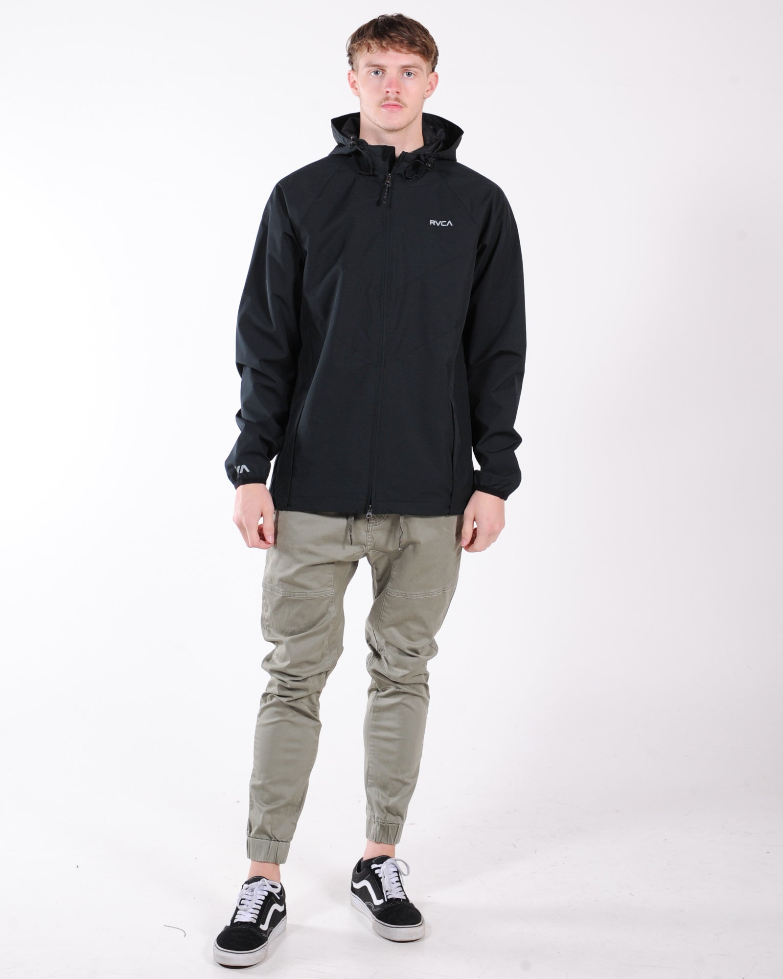 Rvca Va Windbreaker Jacket - Black