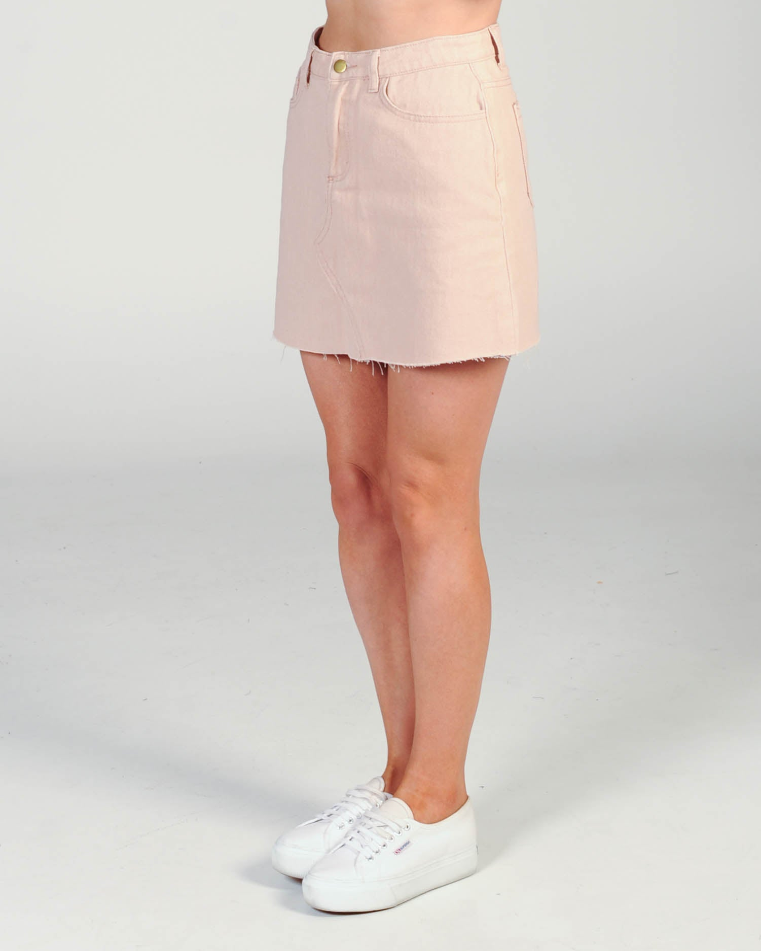 Vacay Denim Skirt - Pink