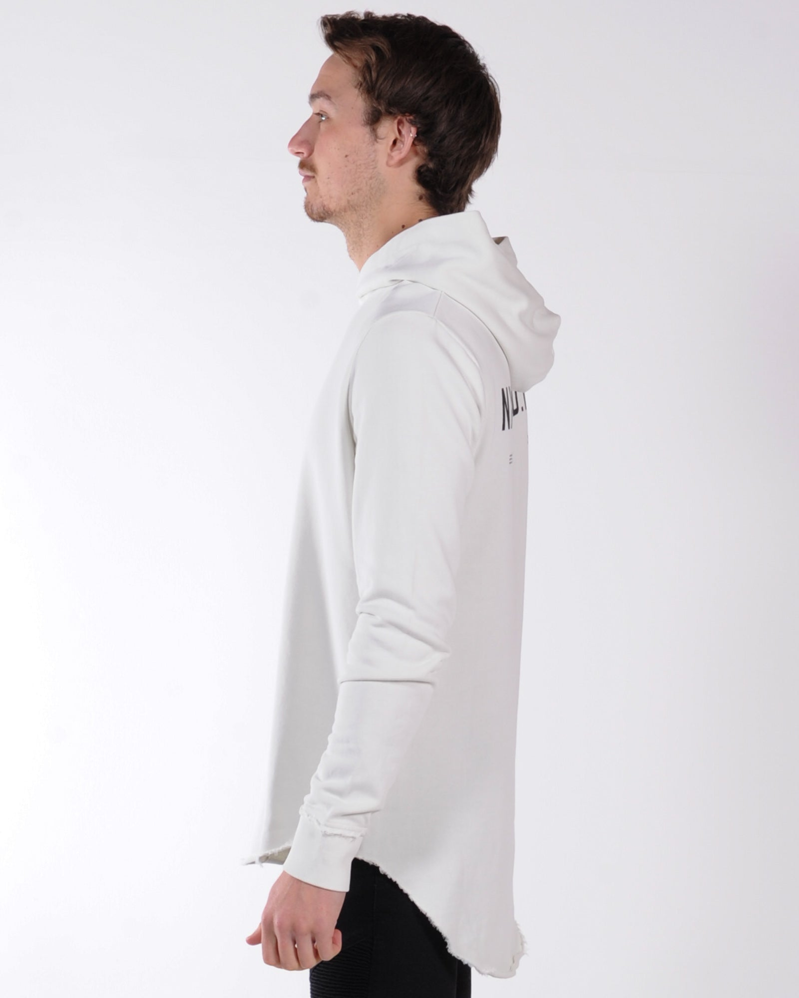 Nena & Pasadena Reckless Hood Sweat - Pigment Off White