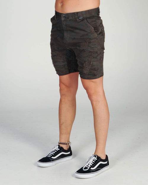 Kiss Chacey Zepplin Short - Overdyed Camo