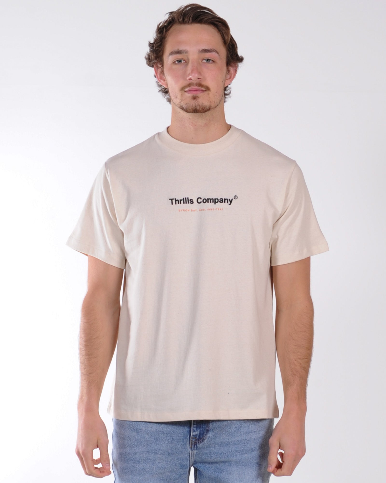 Thrills Found Merch Tee - Natural Marle