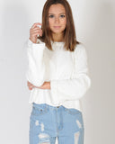 YOUNG AT HEART KNIT - WHITE