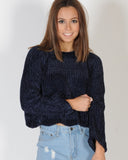 YOUNG AT HEART KNIT - NAVY