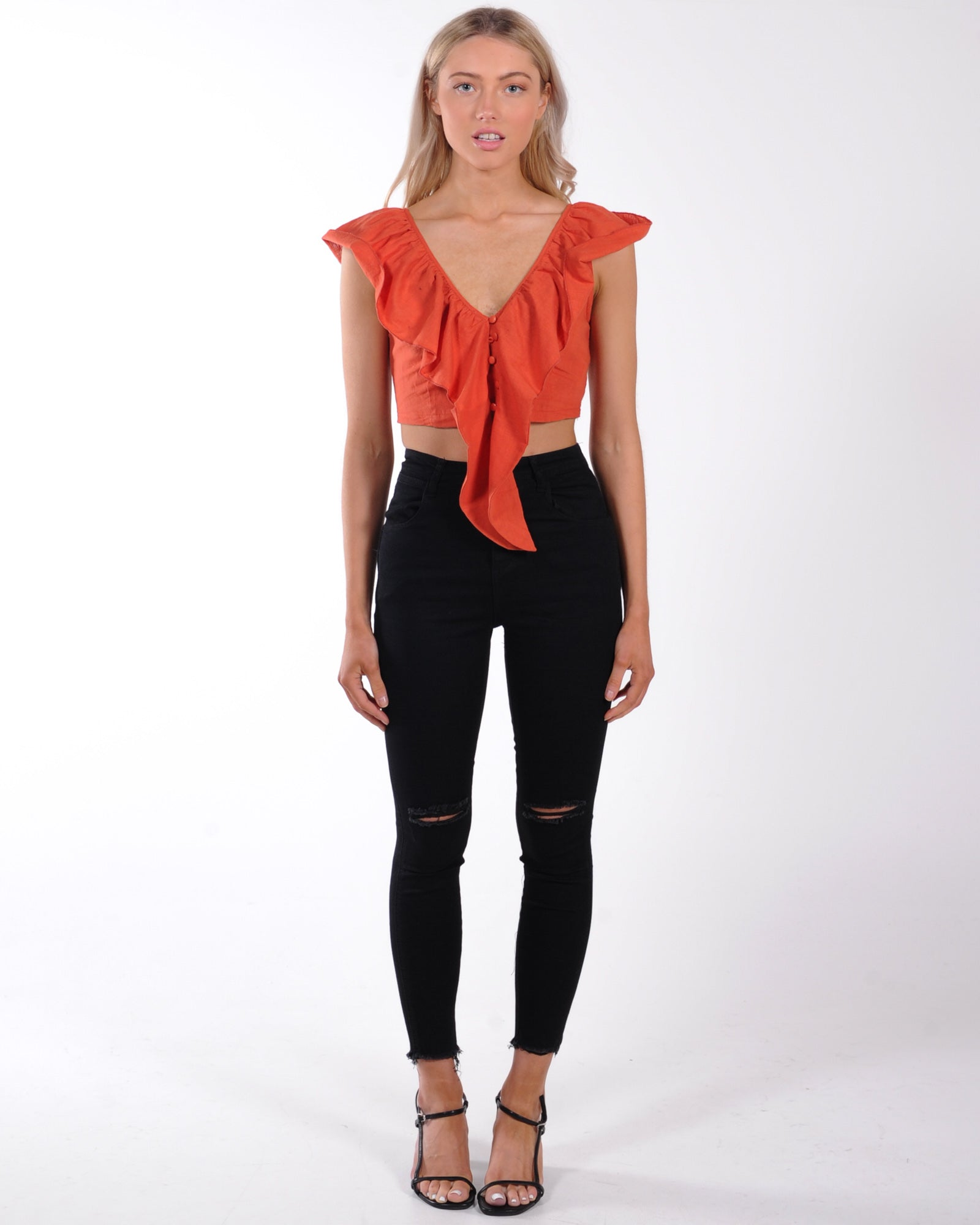 Star Struck Crop Top - Orange