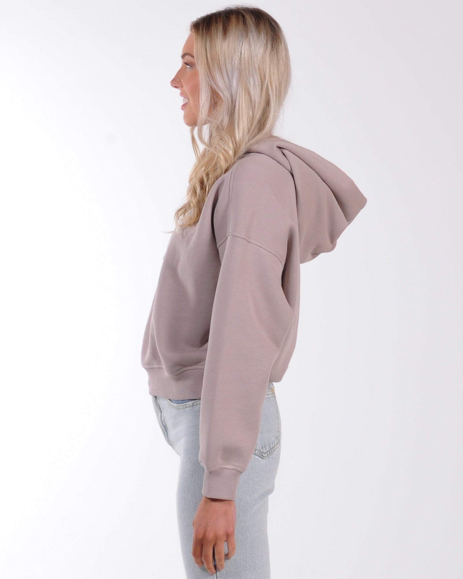 Nude Lucy Carter Classic Hood Sweat - Taupe