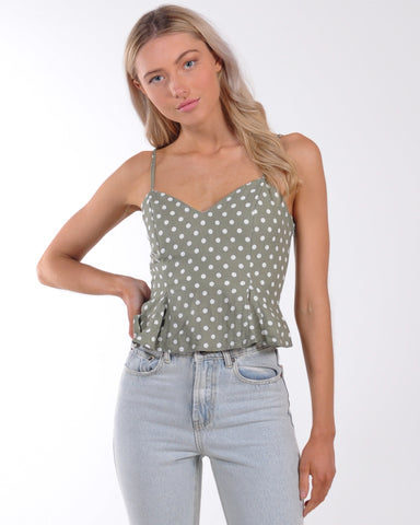 Queen Bee Rib Knit Top - Brick