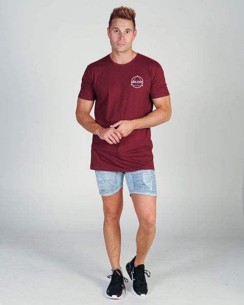 Silent Theory Magnetic Tee - Burgundy