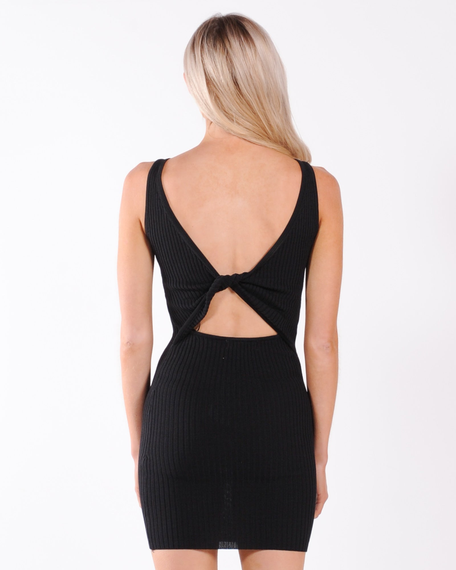 Power Move Knit Dress - Black
